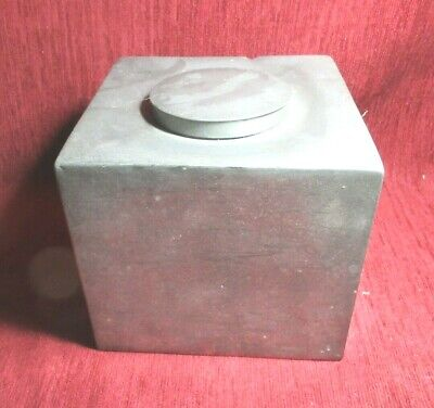 VINTAGE PATONG PEWTER  CADDY 1900's