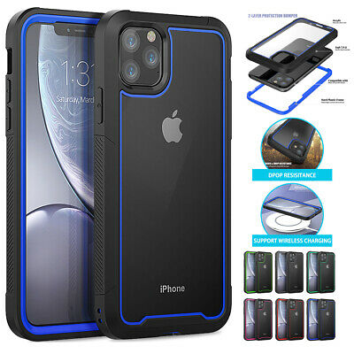 Clear Back Case For iPhone 11,11 Pro,Pro Max Hybrid Heavy Duty Transparent Cover