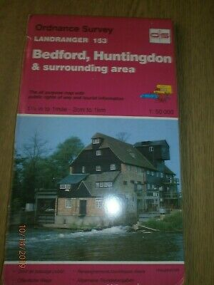 Ordnance Survey Map 153 Landranger Maps: Sheet 153: Bedford, Huntingdon & Area