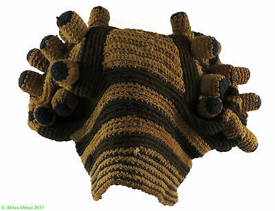 Old Bamileke Royal Hat Fingerlings Cameroon African Art