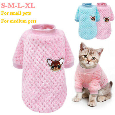 Winter Pet Cat Dog Warm Plush Clothes Knitted Embroideried Sweater Puppy Apparel