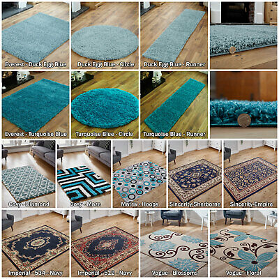 Low Price Large Duck Egg Blue Turquoise Blue Imperial Modern Shagg Soft Area Rug