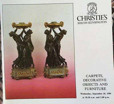 CHRISTIE'S Auction Catalog 9/20/1989 Carpets, Decorative Objects and Furniture