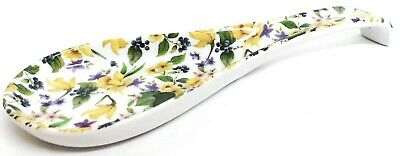 "Daffodils Garden Spoon Rest Large 10.5"" 27cm Ceramic Porcelain Spoon Decorate UK"