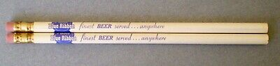 2 Pabst Blue Ribbon Beer Finest Beer Served...Anywhere PBR Pencils NOS Unused