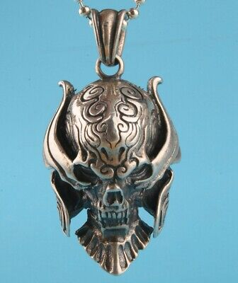 China 925 Silver Pendant Statue Skull Exorcism Decoration Fashion Craft Gift
