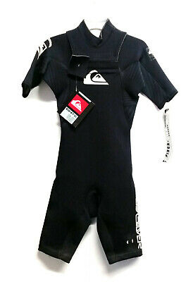 men/'s size XS new NWT Wetsuit QUIKSILVER IGNITE 3//2 Chest Zip Sealed Seams