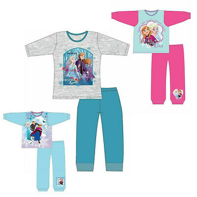 Girls Baby Disney Frozen 2 Pyjamas Top & Long Bottoms Set Age 1 - 10 Years