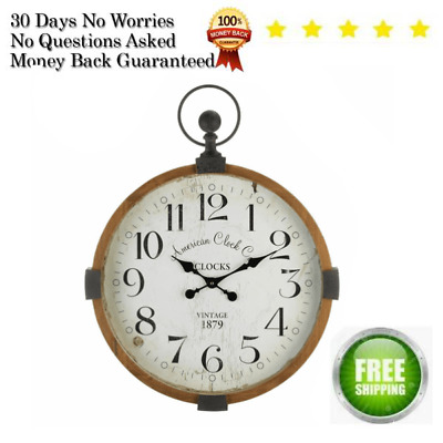 VINTAGE Industrial Home Decorations for Living Room Wall Clock for Living Room