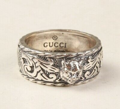 China 925 Silver Hand Carving Tiger Ring Exclusive Custom Gift Collec Old