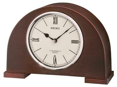 Seiko Mantle Clock In Dark Wood With 12 Hi-Fi Melodies Qxw239Blh