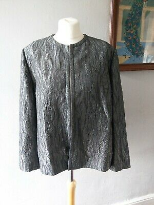 Vintage Retro Eastex Womens Ladies Stunning Evening Blazer Jacket Plus Size 20