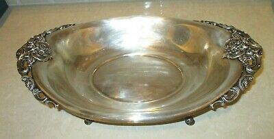"""Large Vintage Baroque by Wallace Footed Silver Plate Bowl 16.25"""""""