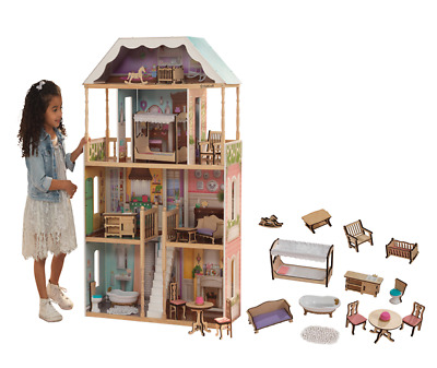 Charlotte Doll House Girls Dream Play Playhouse Dollhouse Wooden Game Toy Gifts