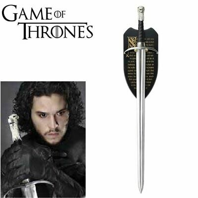 """Game of Thrones """"Longclaw"""" Sword of John Snow TV Series Ver. with Wall Plaque"""