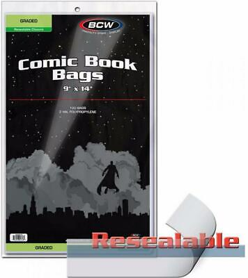 Resealable Graded Comic Bag1 - BCW Free Shipping!