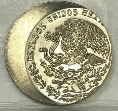 "Mexico 1975 20 Centavos "" Error About 30 % Off Center Mis-Strike "" Unc"