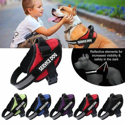 Nylon Strong Adjustable Pet Puppy Dog Walk Harness Reflective Harnesses S-XL