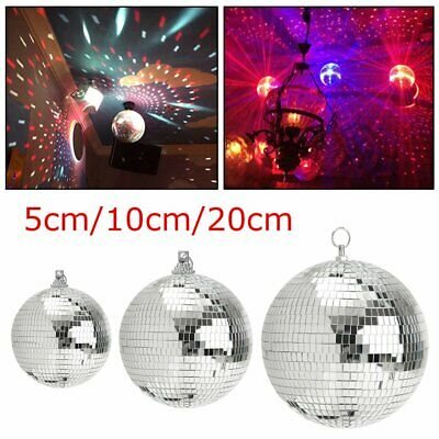 5/10/20cm Disco Mirror Ball DJ Light Silver Dance Party Stage Lighting Eve