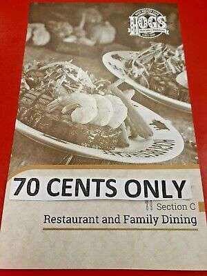 *ADELAIDE Entertainment Book Voucher Restaurant & Family Dining* 70 Cents ONLY*