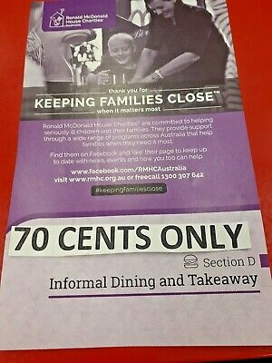 *ADELAIDE Entertainment Book Voucher Informal Dining & Takeaway** 70 Cents ONLY*