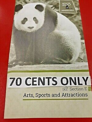 *ADELAIDE Entertainment Book Voucher Arts, Sports & Recreation*** 70 Cents ONLY*