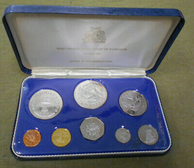 #Bb.  1973   Barbados Boxed  Proof Coin Set, Silver $5 & $10 Coins
