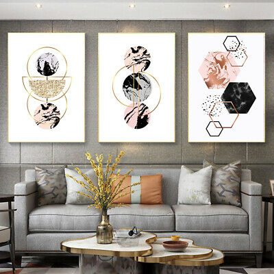 Geometric shape Nordic modern canvas poster wall artist home printing painting 1