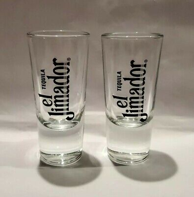 El Jimador Tequila XL Shot Glasses Reposado Anejo Genuine Glass Set of 2 Tequila