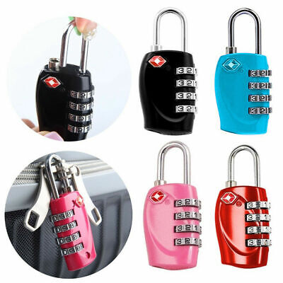 4 Dial Combination TSA Password Lock Travel Luggage Suitcase Lock Padlock Code
