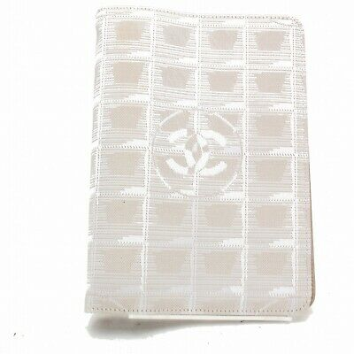 Authentic Chanel Diary Cover New Travel Line Beiges Nylon 812022