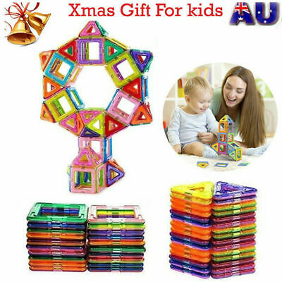 10/50/100/ Magnetic Toy Building Blocks Set 3D Large Tiles DIY Toys Great Gift