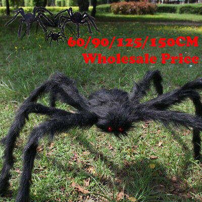 150cm Hairy Giant Spider Decoration Halloween Prop Haunted House Decor Party