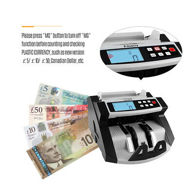 Aibecy Multi-Currency Cash Banknote Money Bill Counter Counting Machine Au
