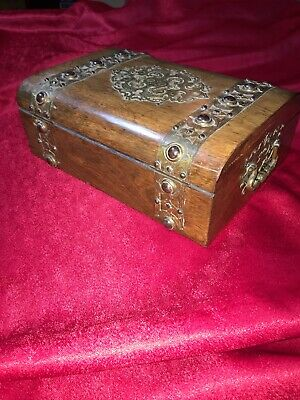 "Wooden Box:A Absolutely Stunning Antique Late Victorian C1878"" Deeds/Sewing Box"