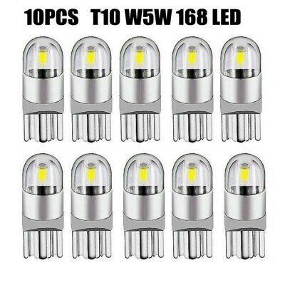 10X Car Bulb Interior Wedge Side Number Plate Light Bulbs For T10 W5W 168 2 LED