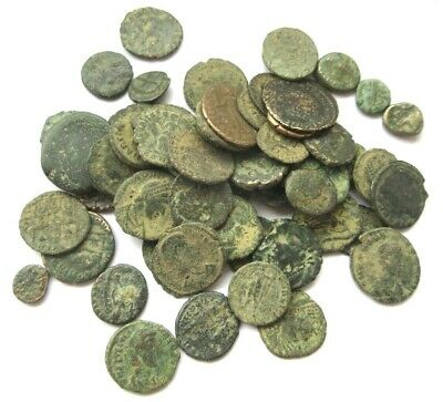 A lot of 60 x ancient Ae-coins, Greek and Roman from differend typs.