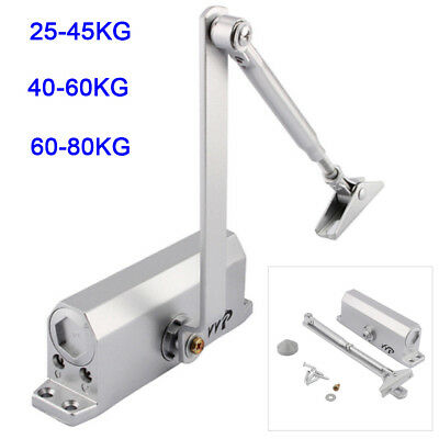 Adjustable 25~80Kg Fire Rated Overhead Door Opener Closer Automatic Soft Close