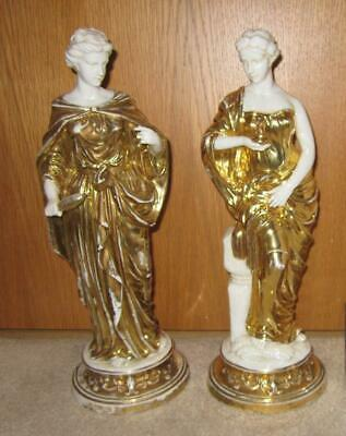 PAIR 19th Century French Porcelain FIGURES- Vieux Old Paris - Possibly Russian