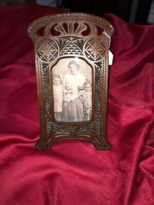 Photo Frame:A Stunning Antique Hand Crafted Decorative Pierced Carved. C1905