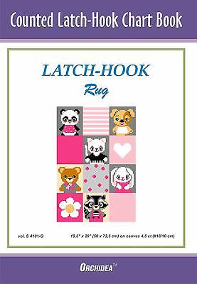 Counted Latch hook Chart - Pets On Pink 90x134 holes 46x69cm 3 purchase options