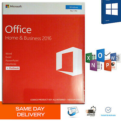 MICROSOFT Office 2016 Home and Business Product Key 🔐 Authentic License 🔐