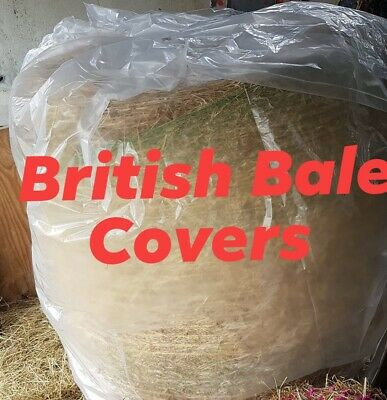 HAY STAW BALE COVER LARGE BIG ROUND 400G THICK WATERPROOF PLASTIC P/&P OFFER!