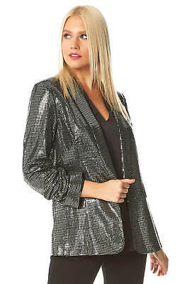 Sequin Embellished Blazer Jacket - Women Roman Originals