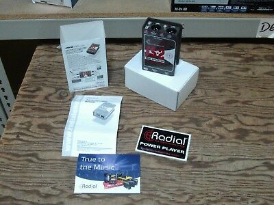 Radial JS-2 Mic Splitter, 2-way, JS2 Mint Condition, 2-day Shipping