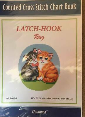 Counted Latch hook Chart - Kittens - 90x111 holes  CHART ONLY Approx 46x51cm