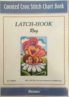 Counted Latch hook Chart ~ Butterfly 90x134 holes ~  46x65cm. 3 purchase options