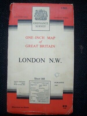 Ordnance Survey Map Seventh Series Sheet 160 London N.W.