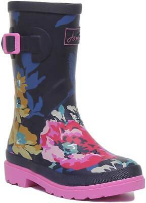 Joules Printed Wellies Kids Mid Rain Boots In Various Colours UK Sizes 10 - 3