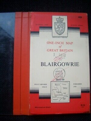 Ordnance Survey Map Seventh Series Sheet 49 Blairgowrie